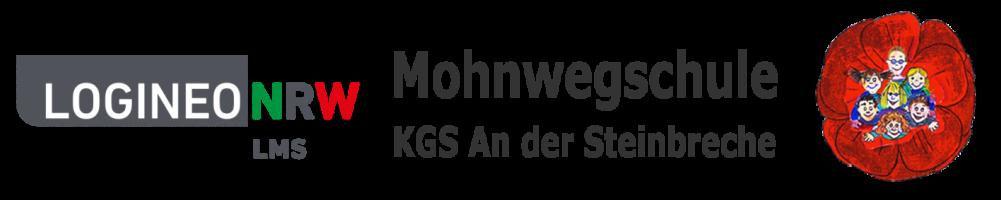 Logos der LOGINEO NRW LMS Lernplattform und der Mohnwegschule